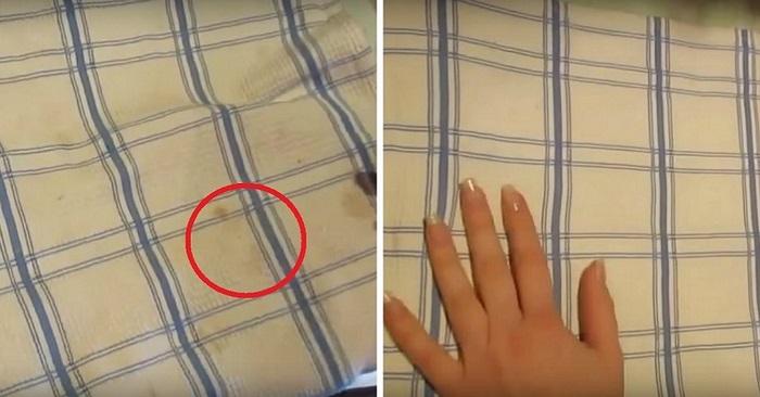 Отличный способ отбелить кухонные полотенца